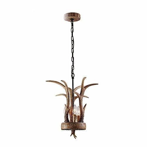 Lighsch lampadari sospensione soffitto ristorante americano di luce stile country di corna di cervo in resina 25*38cm