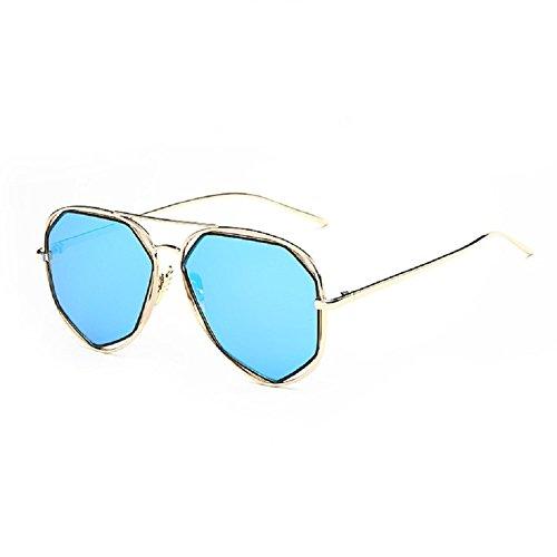 O-C Damen Sonnenbrille Blau gold frame,blue lens