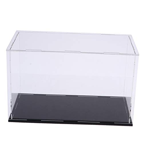 B Blesiya Caja Vitrina de Acrílico Claro para Juguete Modelo Figura de Acción Exhibición (Tamaño Grande) - 50x20x22cm