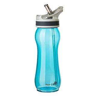 AceCamp TRITAN Spring Cap Water Bottle | Water Bottle Leak-Proof BPA-free | Sports Bottle Drinking Straw I 600ml I Blue I 15546