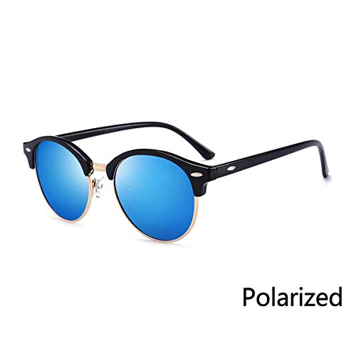 Sonnenbrillen Half Metal Sunglasses Men Women Brand Designer Glasses Mirror Sun Glasses Fashion Gafas Oculos De Sol UV400 Classic N03 C09P Black Blue