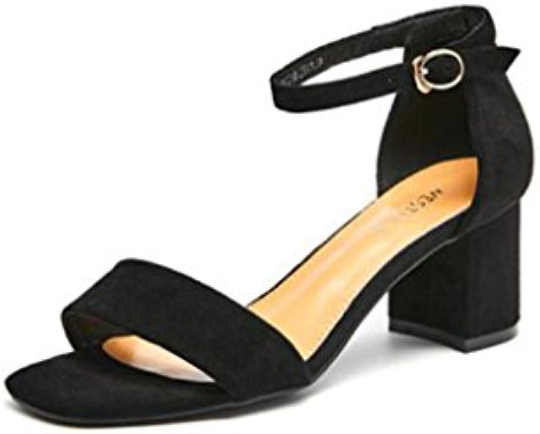 bfmei sandales à à à talons haut, daim mot boucle square nu l'été b07d5wggkf mode talon bruts sandales femmes parent abc152