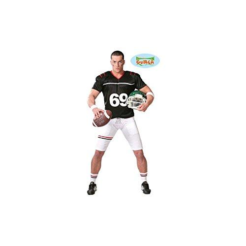 Quarterback Football Spieler - Kostüm für Herren Karneval Fasching Sport Gr. M - XL, Größe:L (Un Costume Usa)
