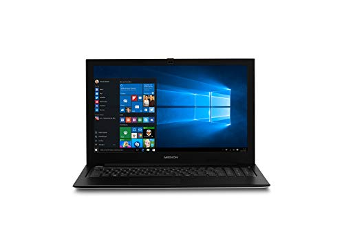MEDION S6219 39,6 cm (15,6 Zoll Full HD Display) Notebook (Intel Pentium N3710, 4GB RAM, 128GB Flash-Speicher, Intel HD-Grafik, Win 10 Home) Silber