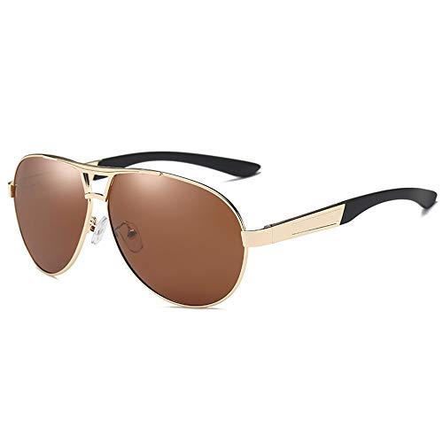 Preisvergleich Produktbild LAOBIAOZI Sonnenbrille Männer Aluminium Polarisierte Sonnenbrille Männer Klassische Marken Sonnenbrille Police Eyewear Beschichtung Spiegel Sonnenbrille Fahren,  C4