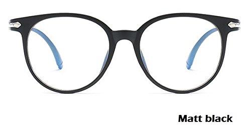 GPZFLGYN Anti-Blau Computer Gläser Anti-Fatigue Männer Frauen Runde Anti-Blaulicht Brille Anti-Strahlung Brille Transparent Retro Vintage Brillengestell Classic