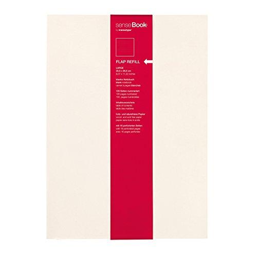 transotype senseBook FLAP REFILL, large - ca. A4, blanko weitere Varianten auswählbar, für das senseBook FLAP zum wieder Auffüllen