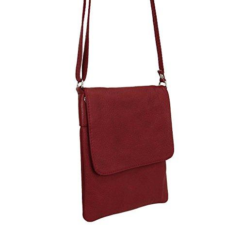 Made Italy, Borsa a spalla donna 18x22 cm (BxH) Rosso (rosso)