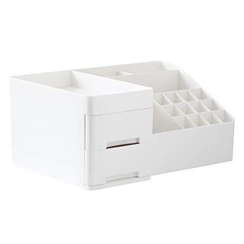 Baffect Organisateur de Rangement pour Maquillage avec tiroirs, boîte à Organisateur de Maquillage pour Pinceau à Maquillage, Rouge à lèvres (Blanc)