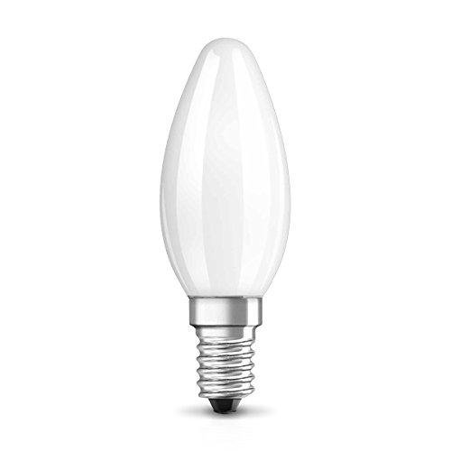 Osram LED Star Classic B Lampe, in Kerzenform mit E14-Sockel, nicht dimmbar, Ersetzt 25 Watt, Matt, Warmweiß - 2700 Kelvin, 1er-Pack