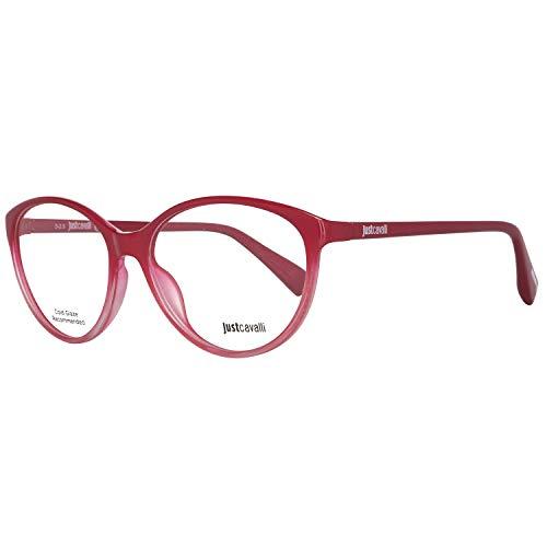 Just Cavalli Damen Brille JC0765 068 54 Brillengestelle, Rot,