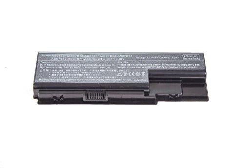 OEM Ersatzakku für Acer Notebookakku Laptopakku Acer AS07B31 / AS07B41 / AS07B51 / AS07B61 / AS07B71, Li-lon Akk 11,1v / 5200mAh, für Acer Aspire 6935G, 5520, 5520G, 5520Z, 5310, 5310G, 5310Z,5315, 5315G, 5315ZReplacement Akku Batterie