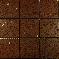 Chocolate Brown Quartz Mosaic Tiles(qzm-c-brown)