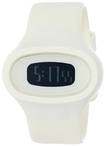 Alessi - AL25003 - Montre Mixte - Quartz Digital - Bracelet Plastique Blanc