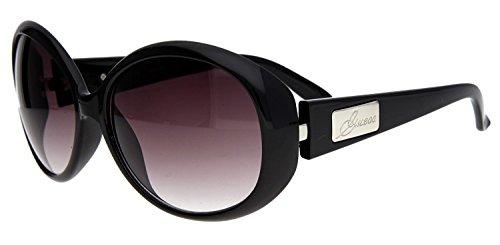 guess-occhiali-da-sole-donna-nero-glaserfarbe-rot-grau-bugelfarbe-schwarz-silber