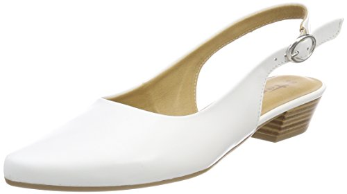 Tamaris Damen 29400 Slingback Sandalen, Weiß (White Leather), 38 EU