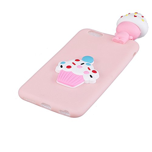 Coque iPhone 6 , Etui iPhone 6S , CaseLover 3D Etui Coque TPU Slim pour Apple iPhone 6 / Apple iPhone 6S (4.7 pouces) Mode Flexible Souple Soft Case Couverture Housse Protection Anti rayures Mince Tra Glace