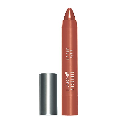 Lakme Absolute Lip Pout Matte Lip Color, Hot Cinnamon, 3.5 g