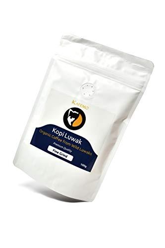 Kopi Luwak Premium (Caffè da luwak selvatico) - Macinato fino - Il caffè più raro del mondo -