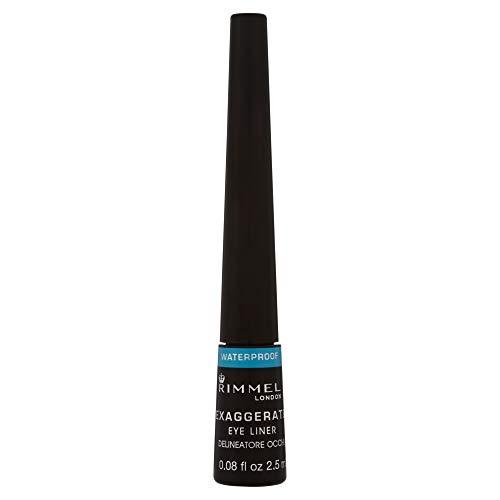 Rimmel London Exaggerate Waterproof Liquid Eyeliner, 2.5 ml, Black