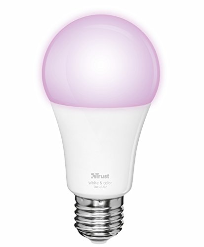 Foto Trust ZLED-RGB9 Lampadina LED RGB Intelligente Regolabile, 230 V,...