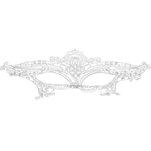 Hergon Damen Augenmaske mit Schnürung für Maskerade, Halloween-Kostüme, Karneval Party Masken, Mädchen Geschenk, Spitze, 2, ()