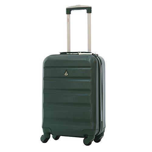 Aerolite ABS Bagage Cabine Bagage à Main Valise Rigide Légere à 4 Roulettes, Approuvées pour Ryanair, easyJet, Air France, Lufthansa, Jet2, Norwegian ...