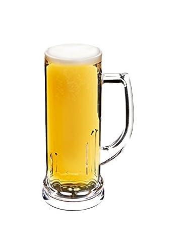Epicurean 600 ml 1-Piece Acrylic Stein Pilsner Beer Mug,