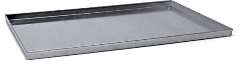 Plat rectangulaire en aluminium Bord droit – Coins soudes alliage 3003, diamètre 60 x 40 cm