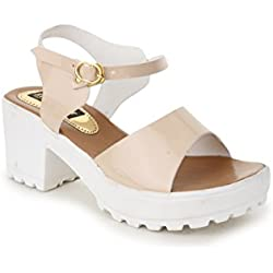 Trendy Fashion Beige Block Heels (ST-2033-Cream-37)