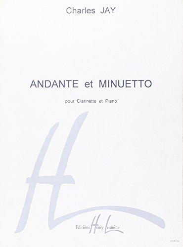 Andante et Minuetto pour clarinette Si b et piano