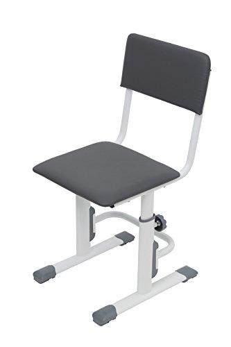 Polini Kids Höhenverstellbarer Schreibtischstuhl Kinderstuhl weiß-grau, 1557.55