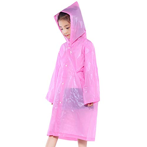SO-buts Raincoat Connection transparent Fashion Multicolor Electric Bicycle Poncho Single (Pink) -