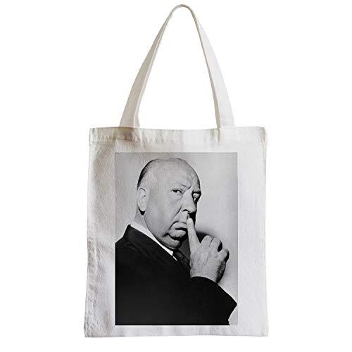 fabulous Große Tasche Sack Strand Schüler Foto von Star berühmten Regisseur Alfred Hitchcock Film Original 1
