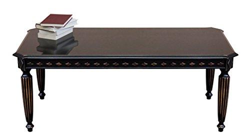 Arteferretto Table Basse rectangulaire laquée Noir Vieilli
