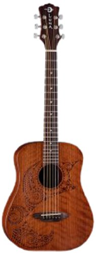 Luna Guitars SAF TATTOO - Guitarra acústica con cuerdas metálicas