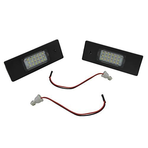 Auto Wayfeng WF® Lot de 2 Feux de Plaque d'immatriculation LED pour BMW E63 E64 E81 E85 E87 650i M6 Z4 sans Erreur 24 SMD