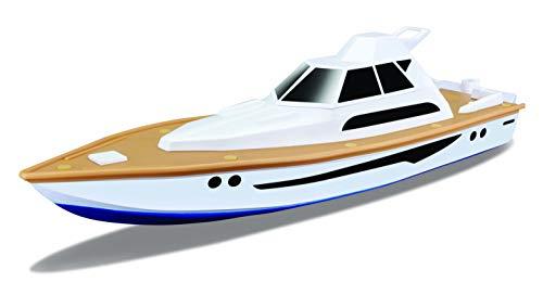Maisto Tech R/C Yacht: Ferngesteuertes Spielzeugboot, 30 Meter Reichweite, Akku mit USB-Ladefunktion, 34 cm, weiß (582197)