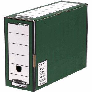 BANKERS BOX 10 x Archivschachtel Premium 127mm grün