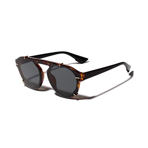 WooCo Leichte Sonnenbrille Strahlenschutz für Herren und Damen, heißer Verkauf Erwachsene Vintage Sonnenbrille Retro Eyewear(D,One size)