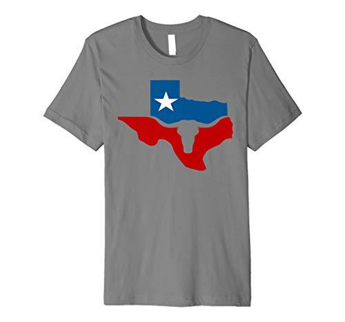 Texas State Flag Longhorn Silhouette T-Shirt