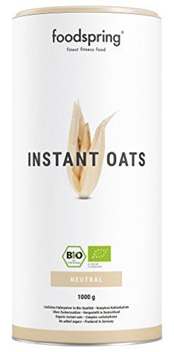 foodspring Bio Instant Oats, 1000g, Natürlicher Weight Gainer mit perfekter Löslichkeit - Natürliche Gainer