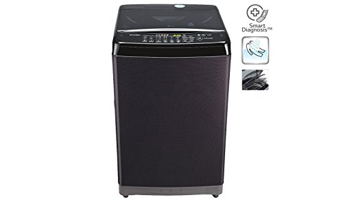 Lg T7577TEELK 6.5 Kg Top Load Fully Automatic Washing Machine - Black Knight/ Black