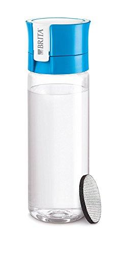 Brita Fill & Go Botella de Agua Filtrada con 1 Filtro Microdisc, con Funda Neopreno, Azul