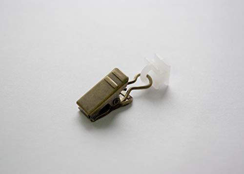 Metall und Plastik rollringe / gleise clips für Vorhänge und Gardinen - Antik Gold (Packung mit...