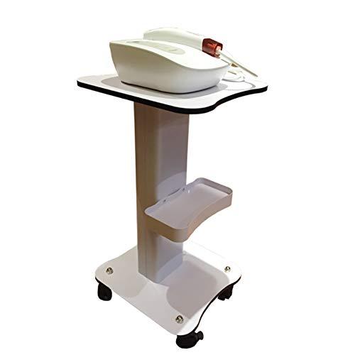 Carros ZAY Carretilla de peluquería, con reposacabezas/Ruedas rodantes Herramientas de Belleza de la Rueda, para baño/Hospital/Beauty Club Storage Trolley (Color : Blanco)