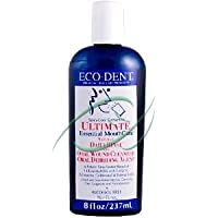 Eco-Dent Ultimate Essential Mouthcare Natural Daily Rinse Oral Cleanser Alcohol Free Spicy-Cool Cinnamon 8 Fl Oz 236 Ml