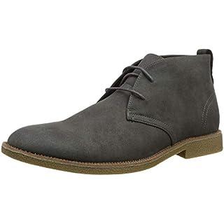 New Look Herren Alden Desert Boots, Grau (Mid Grey 04), 44 EU (10 UK)