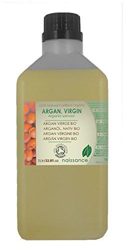 Argán Virgen BIO - Aceite Portador Prensado en frío 100% Puro - Certificado Ecológico - 1 Litro