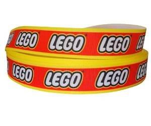 Ribbon Queen 2m x 22mm (2,5cm) Lego Logo Ripsband für Geburtstag Kuchen Geschenkpapier Haar Bögen Karten Craft Schnürsenkel in Verpackung Markenlogo